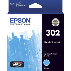 Genuine Epson 302 Cyan ink cartridge - 250 pages