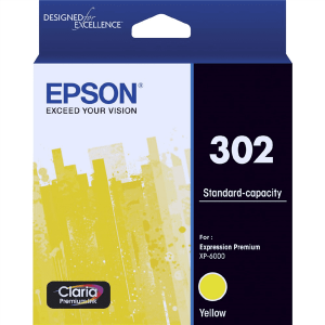 Genuine Epson 302 Yellow ink cartridge - 250 pages