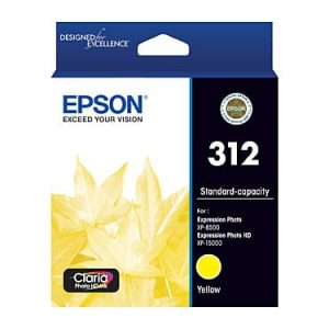 Genuine Epson 312 Yellow ink cartridge - 360 pages