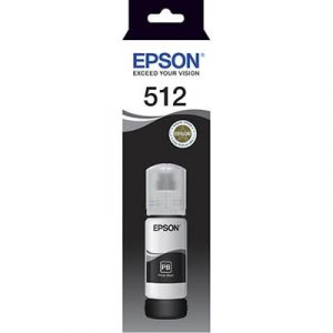 Genuine Epson T512 Black ink bottle - 8,000 pages