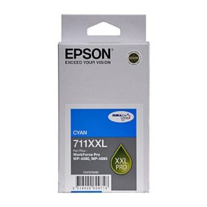 Genuine Epson 711XXL Cyan Extra High Yield ink cartridge - 3,400 pages