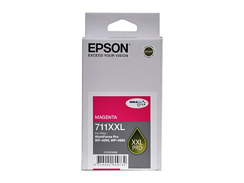 Genuine Epson 711XXL Magenta Extra High Yield ink cartridge - 3,400 pages
