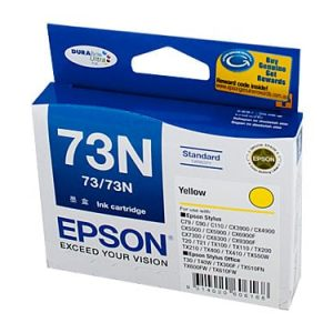 Genuine Epson 73N (T1054) Yellow High Yield ink cartridge - 310 pages