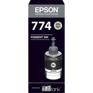 Genuine Epson T774 EcoTank Black ink bottle - 6,000pages