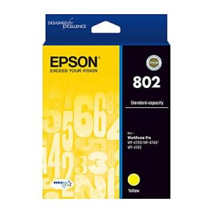 Genuine Epson 802 Yellow High Yield ink cartridge - 650 pages