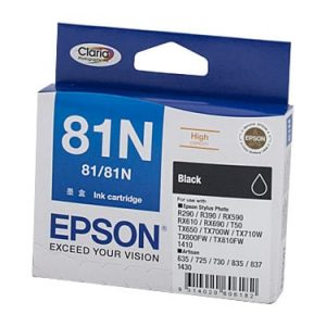 Genuine Epson 81N (T1111) Black High Yield ink cartridge - 480 pages