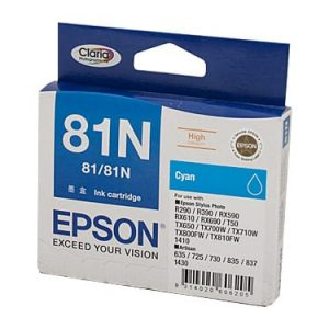 Genuine Epson 81N (T1112) Cyan High Yield ink cartridge - 855 pages