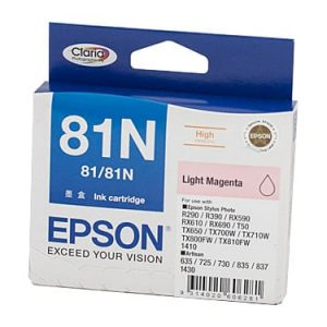 Genuine Epson 81N (T1116) Light Magenta High Yield ink cartridge - 855 pages