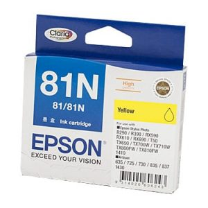 Genuine Epson 81N (T1114) Yellow High Yield ink cartridge - 855 pages