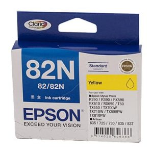 Genuine Epson 82N (T1124) Yellow ink cartridge - 330 pages