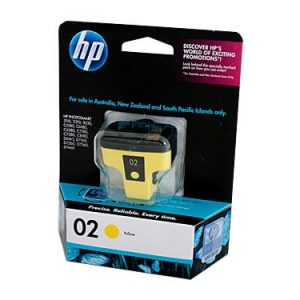 Genuine HP 02 (C8773WA) Yellow ink cartridge - 350 pages