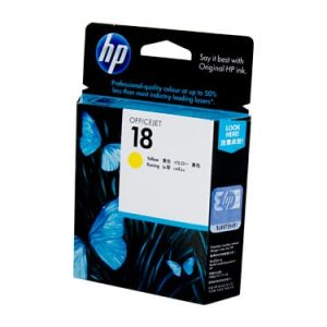 Genuine HP 18 (C4939A) Yellow ink cartridge - 900 pages