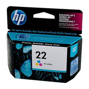 Genuine HP 22 (C9352AA) Colour ink cartridge - 165 pages