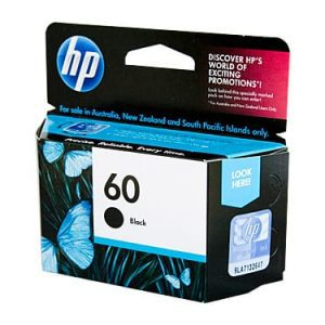Genuine HP 60 (CC640WA) Black ink cartridge - 200 pages