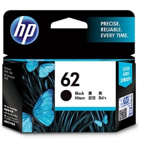Genuine HP 62 (C2P04AA) Black ink cartridge - 200 pages