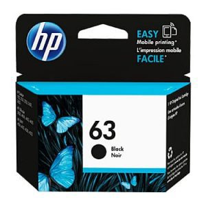 Genuine HP 63 (F6U62AA) Black ink cartridge - 190 pages