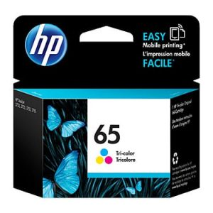 Genuine HP 65 (N9K01AA) Colour ink cartridge - 100 pages