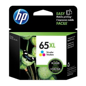 Genuine HP 65XL (N9K03AA) Colour High Yield ink cartridge - 300 pages