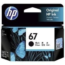 Genuine HP 67(3YM56AA) Black ink Cartridge - 120 pages