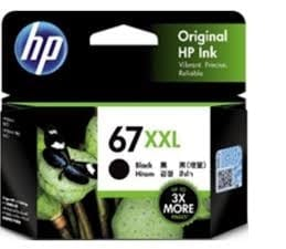 Genuine HP 67(3YM59AA) Black Extra High Yield ink Cartridge - 400 pages