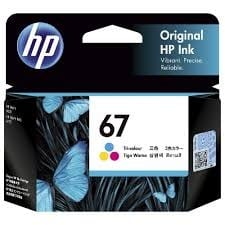 Genuine HP 67(3YM55AA) Tri Colour ink Cartridge - 100 pages