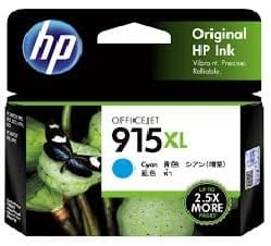 Genuine HP 915 (3YM15AA) Cyan ink cartridge - 315 pages