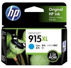 Genuine HP 915XL (3YM19AA) Cyan ink cartridge - 825 pages