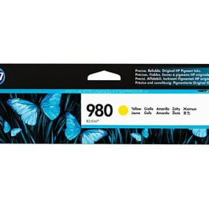 Genuine HP 980 (D8J09A) Yellow ink cartridge - 6,600 pages