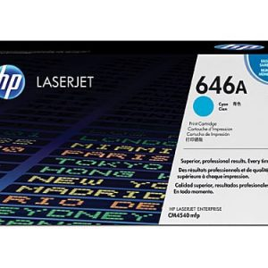 Genuine HP 646A (CF031A) Cyan toner cartridge - 12,500 pages