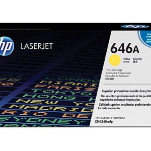 Genuine HP 646A (CF032A) Yellow toner cartridge - 12,500 pages