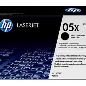 Genuine HP 05X (CE505X) Black toner cartridge - 6,500 pages