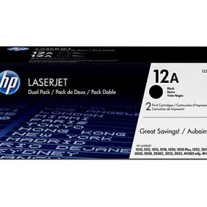 Genuine HP 12A (Q2612A) Black ink cartridge 2pk - 2,000 pages