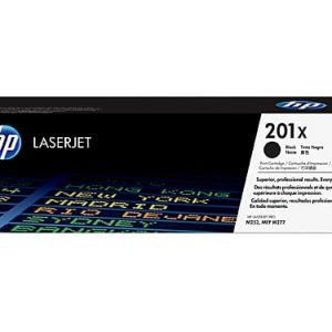 Genuine HP 201X (CF400X) Black High Yield toner cartridge - 2,800 pages