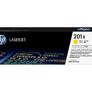 Genuine HP 201X (CF402X) Yellow High Yield toner cartridge - 2,300 pages