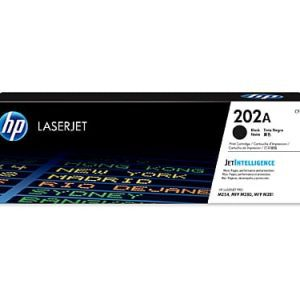 Genuine HP 202A (CF500A) Black toner cartridge - 1,400 pages