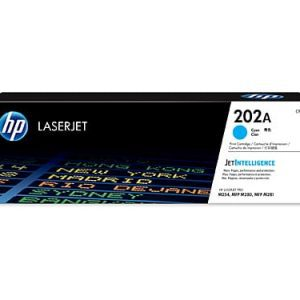 Genuine HP 202A (CF501A) Cyan toner cartridge - 1,300 pages