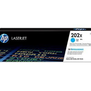 Genuine HP 202X (CF501X) Cyan toner cartridge - 2,500 pages