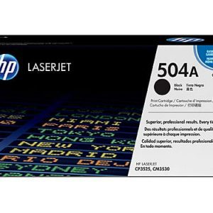 Genuine HP 504A (CE250A) Black toner cartridge - 5,000 pages