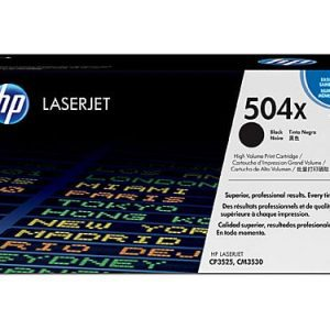 Genuine HP 504A (CE250X) Black High Yield toner cartridge - 10,500 pages