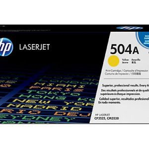 Genuine HP 504A (CE252A) Yellow toner cartridge - 7,000 pages