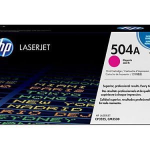 Genuine HP 504A (CE253A) Magenta toner cartridge - 7,000 pages