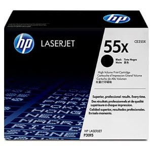 Genuine HP 55X (CE255X) Black High Yield toner cartridge - 12,000 pages