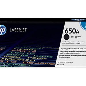 Genuine HP 650A (CE270A) Black toner cartridge - 13,500 pages