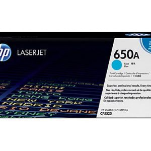 Genuine HP 650A (CE271A) Cyan toner cartridge - 15,000 pages