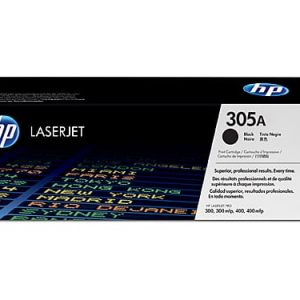 Genuine HP 305A (CE410A) Black toner cartridge - 2,200 pages