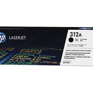 Genuine HP 312A (CF380A) Black toner cartridge - 2,400 pages