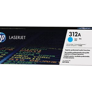 Genuine HP 312A (CF381A) Cyan toner cartridge - 2,700 pages