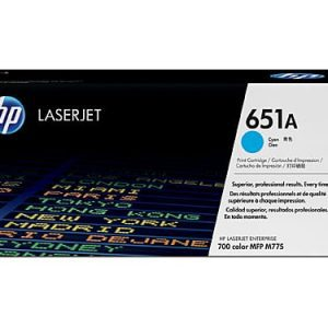 Genuine HP 651A (CE341A) Cyan toner cartridge - 16,000 pages