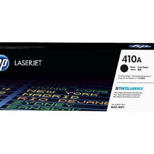 Genuine HP 410A (CF410A) Black toner cartridge - 2,300 pages