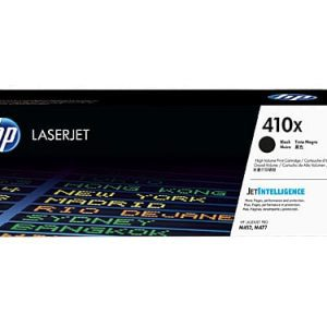 Genuine HP 410X (CF410X) Black High Yield toner cartridge - 6,500 pages